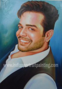 Oil canvas portrait gift hand painted