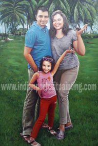 family portrait painting from photo