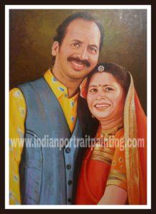 portrait paintings oil canvas India
