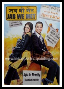 Custom bollywood poster maker - Oil Canvas portrait