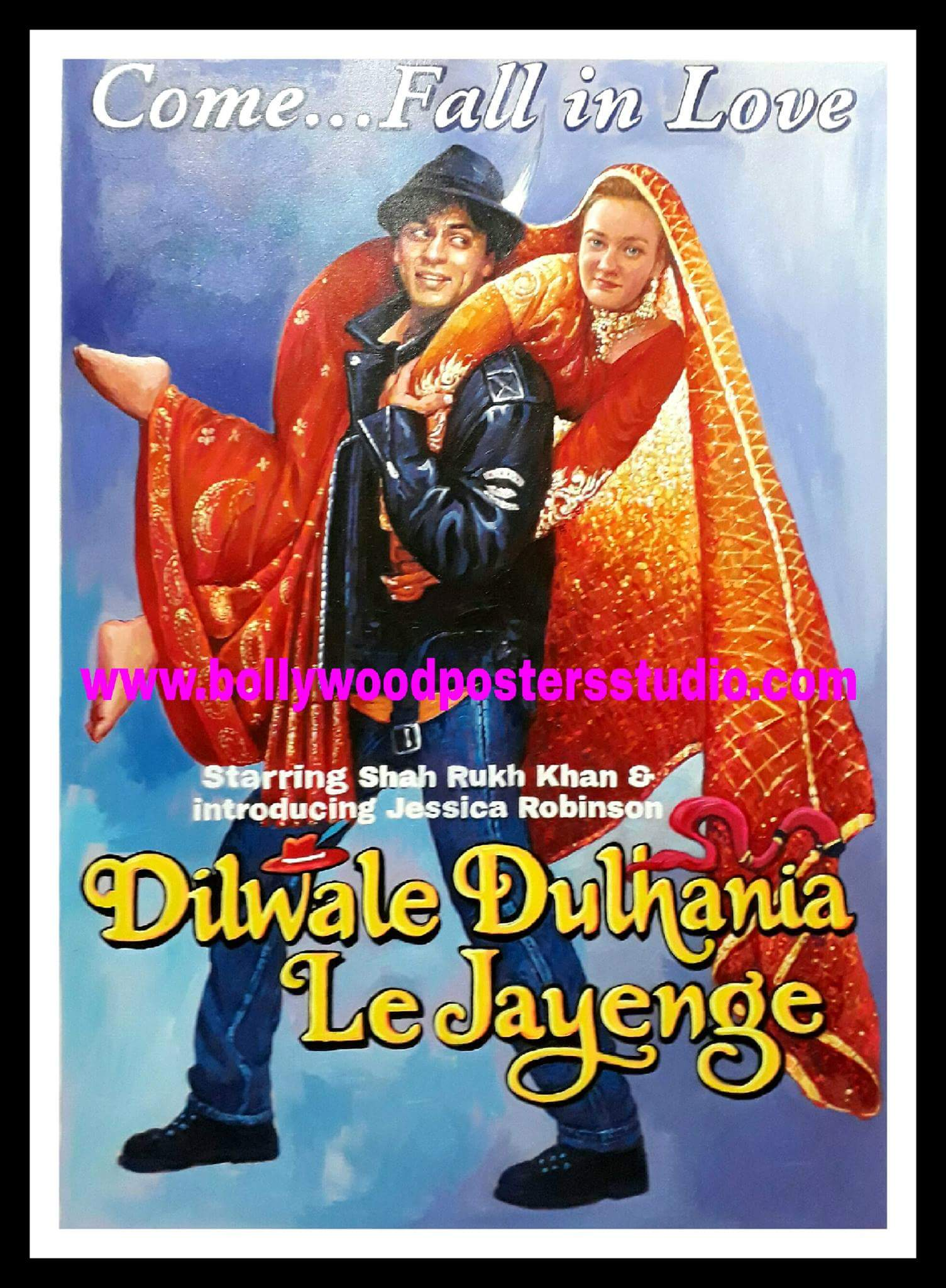 Indian movie poster – Oil Canvas portrait