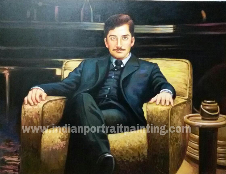0a932ab65e5f1 Custom oil portrait painting on canvas - Oil Canvas portrait