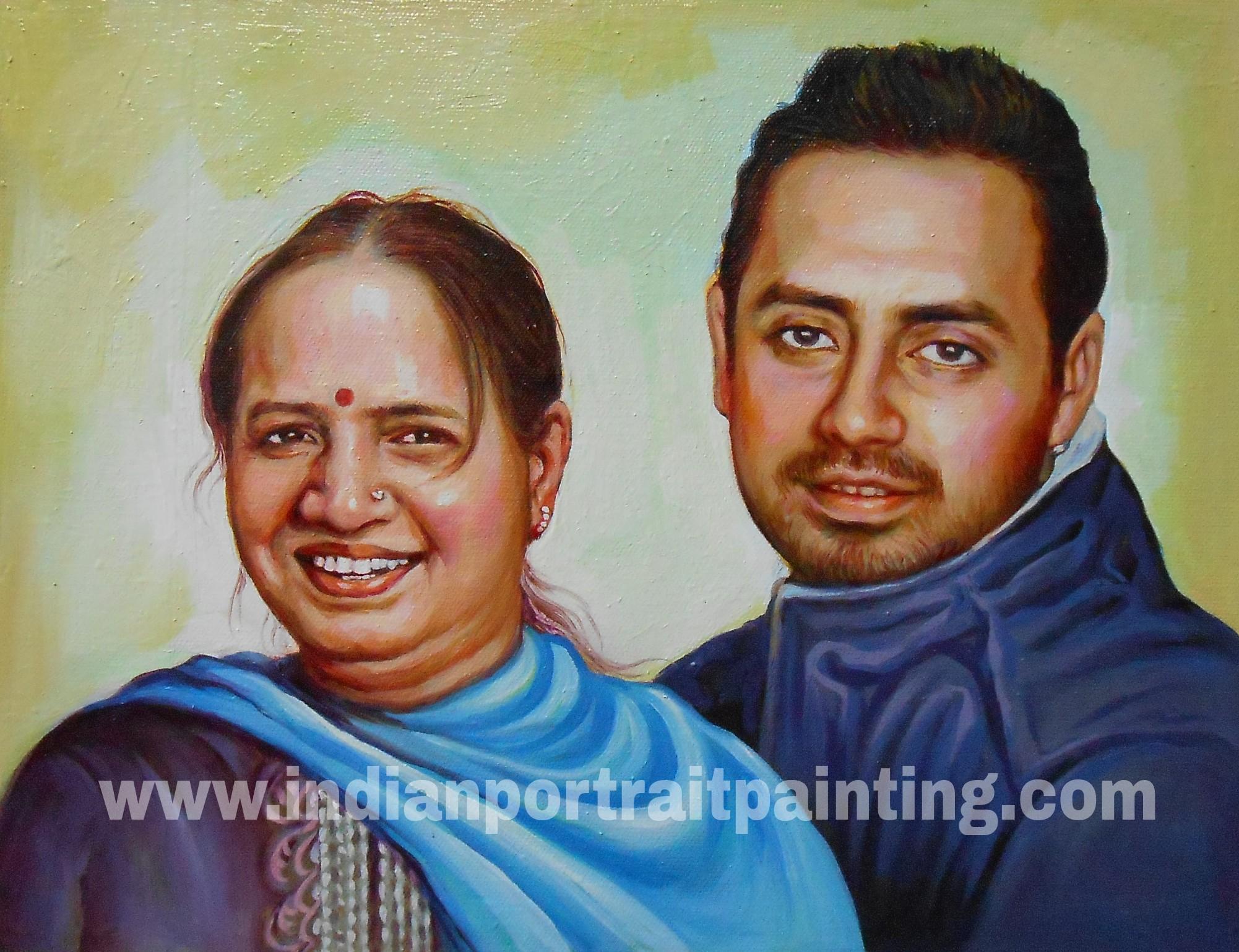 Portrait makers in mumbai india oil canvas portrait