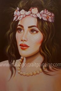 Indian portrait painting watercolour