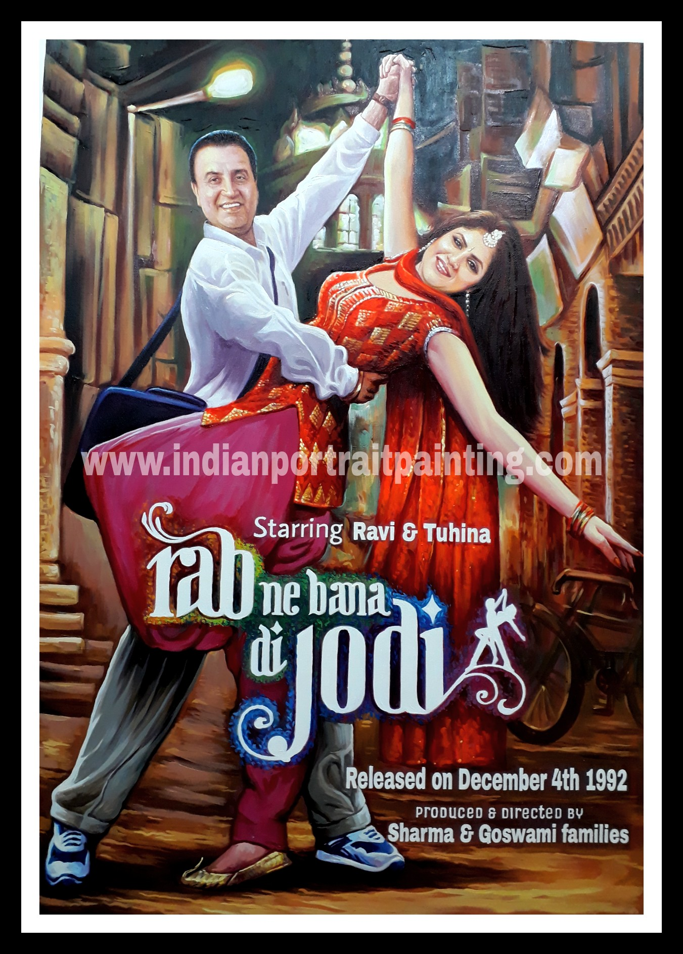Custom Bollywood Movie Posters Oil Canvas Portrait