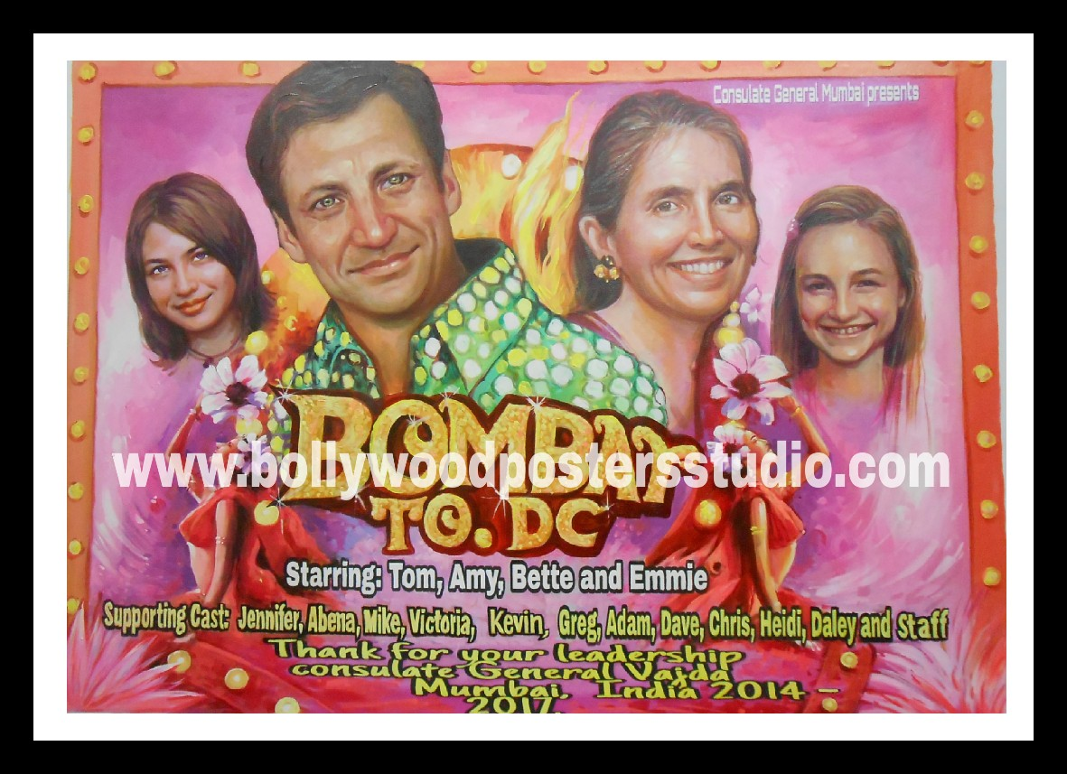 Personalized bollywood movie posters for family