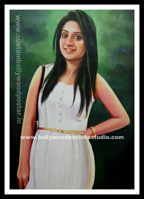 Custom oil canvas portrait painting