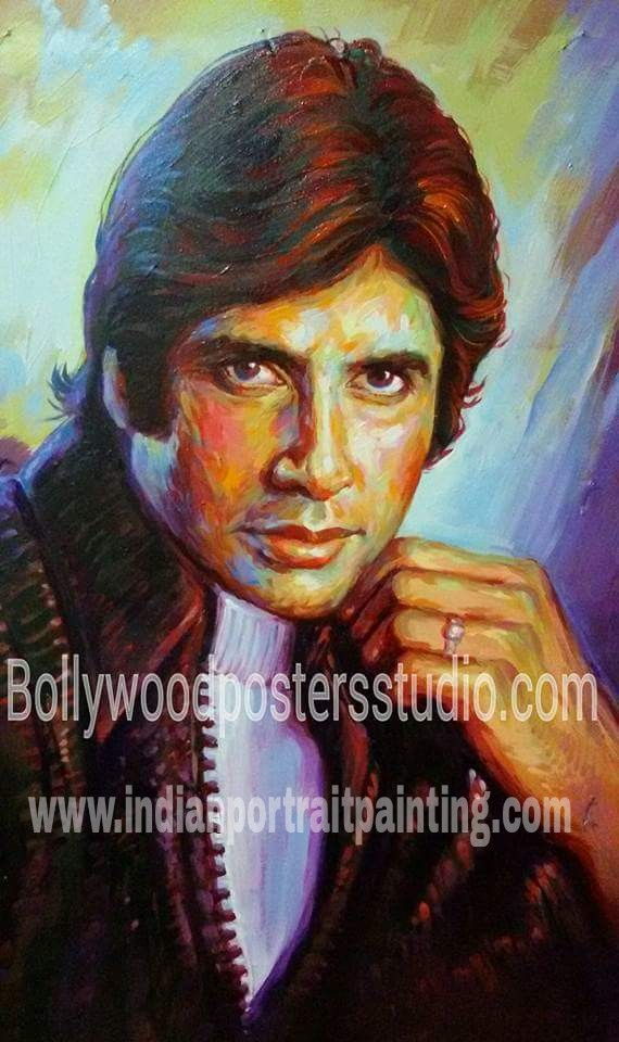 Modern celebrity portrait paintings