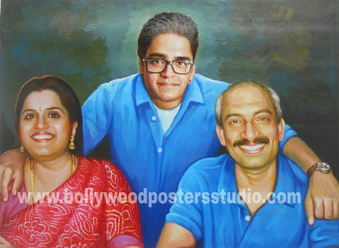 oil painting family portraits