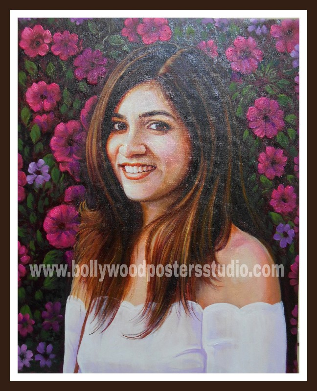 custom original portrait painting from photo
