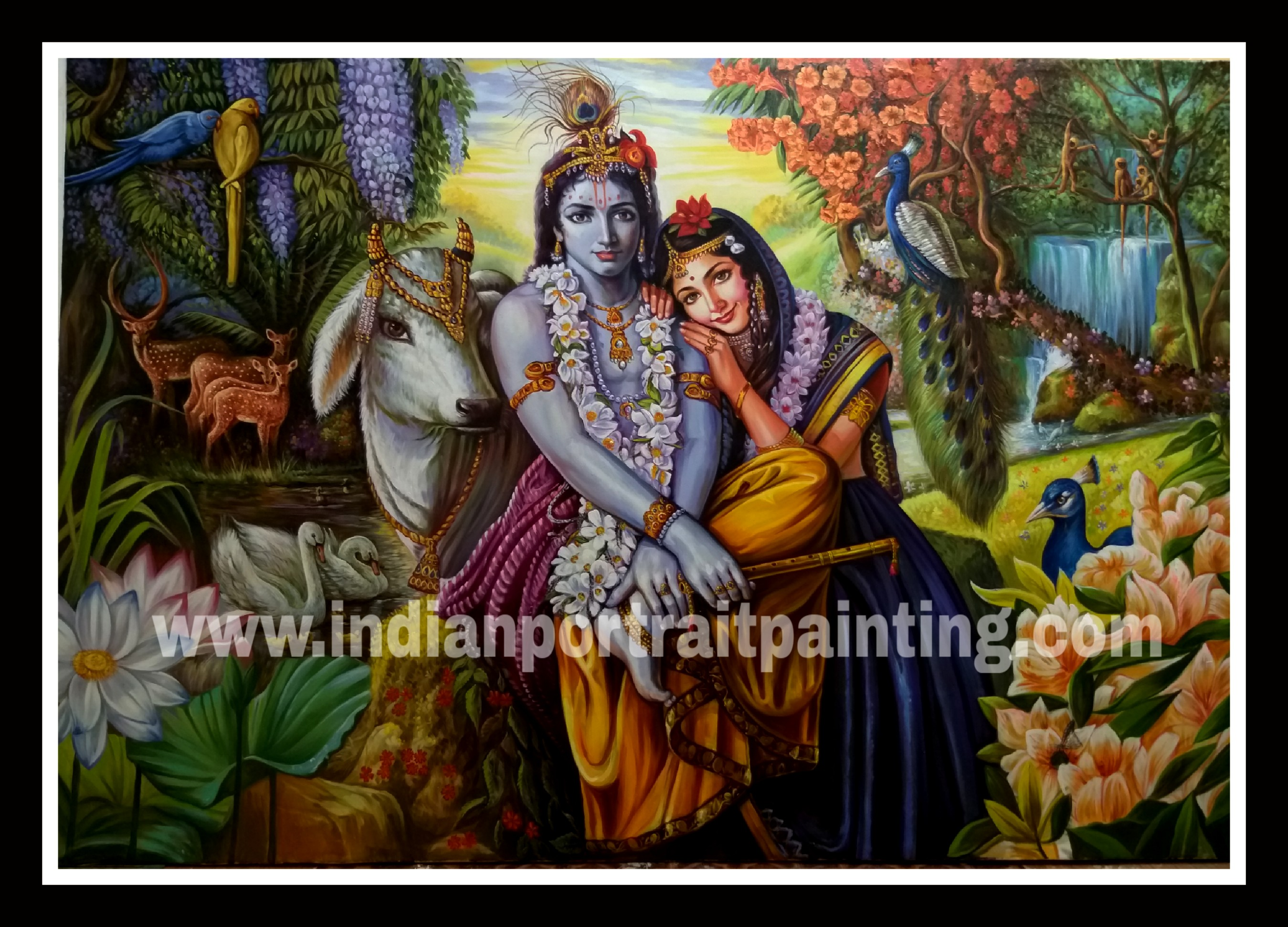 Original Radha Krishna paintings on canvas