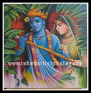 radha krishna paintings gallery