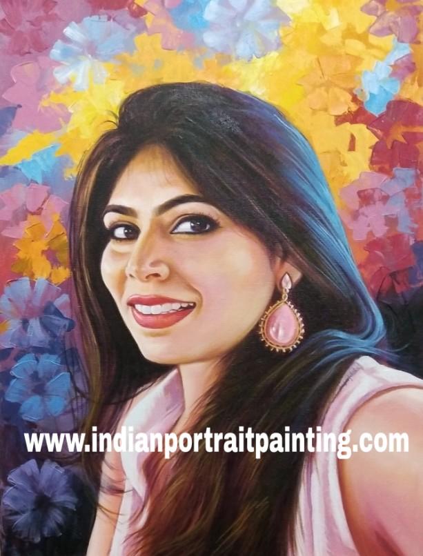 Turn photo to realistic handmade portrait painting