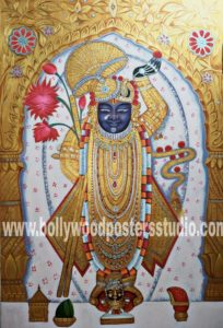 Hand painted Shreenathji oil paintings
